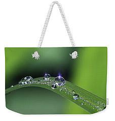 Blue Light On The Droplets Weekender Tote Bag