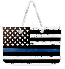 Blue Line Flag Weekender Tote Bag