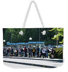 Blue Line On Campus Weekender Tote Bag