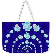 Blue Lotus Tunnel Weekender Tote Bag by Samantha Thome