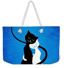 Blue Love Cats Weekender Tote Bag