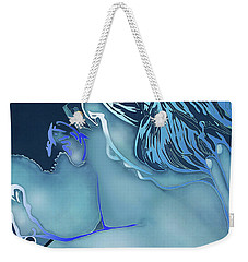 Blue Love Weekender Tote Bag