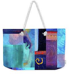 Weekender Tote Bag featuring the digital art Blue Love by Nancy Merkle