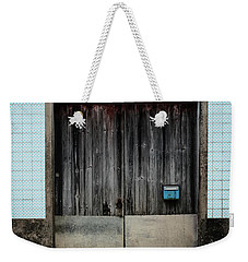 Weekender Tote Bag featuring the photograph Blue Mailbox by Marco Oliveira