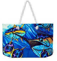 Blue Marlin And Yellowfin Tuna Weekender Tote Bag