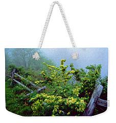 Blue Marsh Dam Fog 003 Weekender Tote Bag