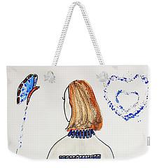 Blue Match Weekender Tote Bag