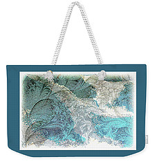 Weekender Tote Bag featuring the photograph Blue Maze by Athala Carole Bruckner