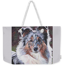 Blue Merle Sheltie Weekender Tote Bag