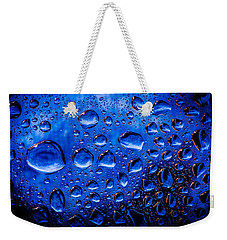 Blue Meteor Storm Weekender Tote Bag by Bruce Pritchett