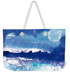 Blue Mohave Moon Weekender Tote Bag