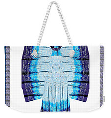 Blue Moon Butterfly Womens Fashion Couture From Jaipur India Cotton Printed Fabric With Embroidary W Weekender Tote Bag