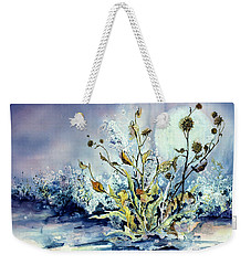 Blue Moon Floral Weekender Tote Bag