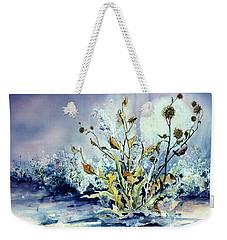 Blue Moon Floral Weekender Tote Bag