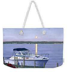 Weekender Tote Bag featuring the painting Blue Moon by Lynne Reichhart