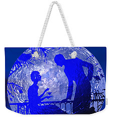 Blue Moonlight Lovers Weekender Tote Bag
