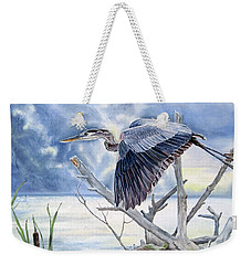 Blue Morning Flight Weekender Tote Bag
