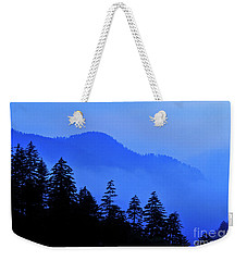 Weekender Tote Bag featuring the photograph Blue Morning - Fs000064 by Daniel Dempster