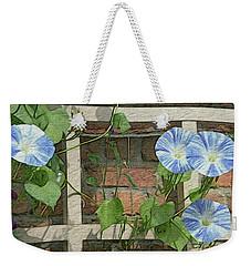 Blue Morning Glories Weekender Tote Bag