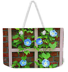 Blue Morning Glory Weekender Tote Bag