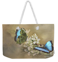 Blue Morpho In Spring Weekender Tote Bag