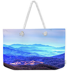 Blue Mountain Mist Weekender Tote Bag by Dale R Carlson
