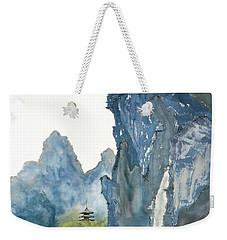 Blue Mountain Morning Weekender Tote Bag