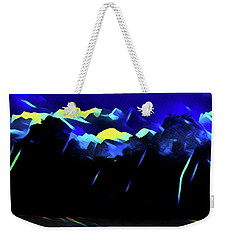 Weekender Tote Bag featuring the painting Blue Mountains by Joan Reese