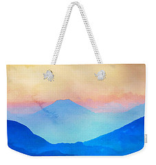Blue Mountains Watercolour Weekender Tote Bag