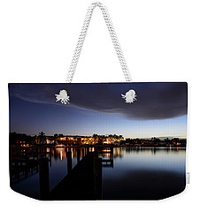 Weekender Tote Bag featuring the photograph Blue Night by Laura Fasulo