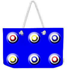 Blue Nine Squared Weekender Tote Bag