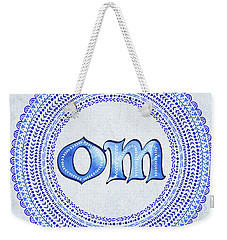 Blue Om Mandala Weekender Tote Bag by Tammy Wetzel