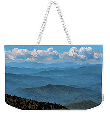 Blue On Blue - Great Smoky Mountains Weekender Tote Bag