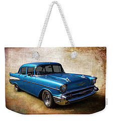 Weekender Tote Bag featuring the photograph Blue On Blue by Keith Hawley