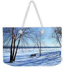 Weekender Tote Bag featuring the photograph Blue On Blue by Phil Koch