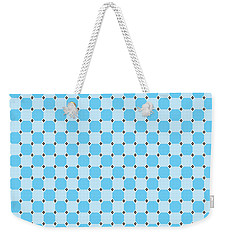 Blue Optical Illusion Weekender Tote Bag