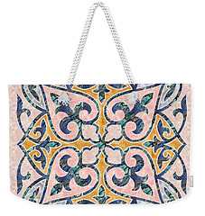 Blue Oriental Tile 01 Weekender Tote Bag