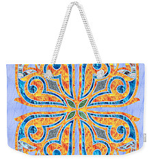 Blue Oriental Tile 02 Weekender Tote Bag