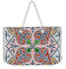 Blue Oriental Tile 03 Weekender Tote Bag