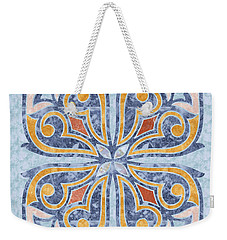 Blue Oriental Tile 04 Weekender Tote Bag