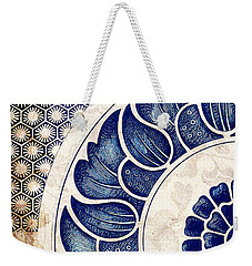 Blue Oriental Vintage Tile 05 Weekender Tote Bag