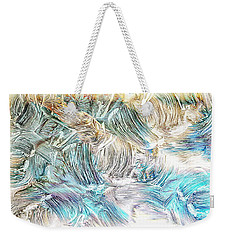 Weekender Tote Bag featuring the photograph Blue Palette by Athala Carole Bruckner