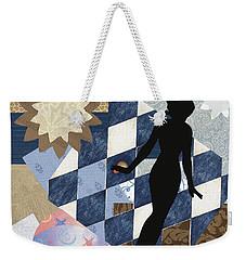 Blue Paper Doll Weekender Tote Bag