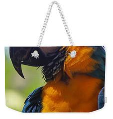Blue Parrot Weekender Tote Bag