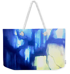 Blue Patterns Weekender Tote Bag