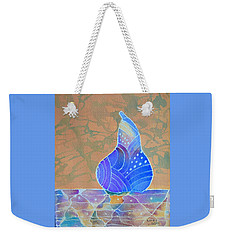 Blue Pear Weekender Tote Bag by Nancy Jolley