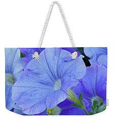 Blue Petunia Blossom Weekender Tote Bag
