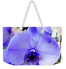 Blue Phalaenopsis Orchid Weekender Tote Bag