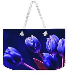Blue Poetry Weekender Tote Bag