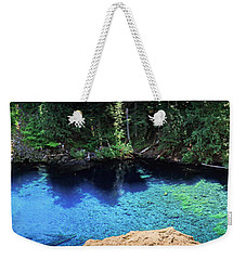 Weekender Tote Bag featuring the photograph Blue Pool by Cat Connor